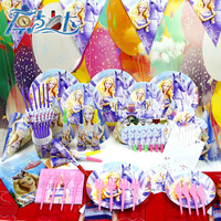 Children's party supplies barbie princess theme package holiday festival supplies wholesale birthday party 78pcs