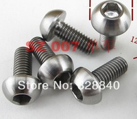 4 pcs M5 x 12mm Bike bicycle ti titanium Water Bottle Cage Holder Bolts Screws Bolt free shipping