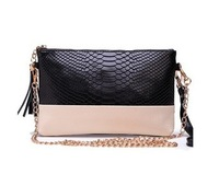 2014 New Genuine Leather Cowhide Chain Clutch Evening Shoulder  Messenger Handbags Wholesale Free Shipping HCM02
