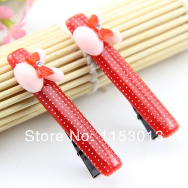 {Min.Order $15} 30pcs/Lot 2014 New Kids/Girl/Princess/Baby Acrylic with Rabbit Hair Clip /Hair Accessories(China (Mainland))