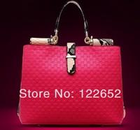2014 new high-end fashion female package one shoulder genuine leather bag big serpentine handbag free shipping B-22
