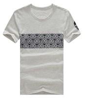 2014 summer fashion skull print plus size short-sleeve T-shirt 3.25 Shopping Festival men brand Plus Size 4XL 5XL 6XL Free Ship