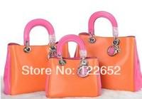 Famous brand 2014 new CD female classic brand laptop handbag 1:1 quality single shoulder bag free shipping B-21