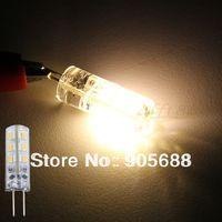 1000piece/lot G4 Warm White SMD 3014 24 LED RV Spotlight Light Lamp Bulb 3600K DC12V 1.5W free shipping