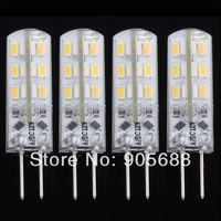 100piece/lot G4 Warm White SMD 3014 24 LED RV Spotlight Light Lamp Bulb 3600K DC12V 1.5W free shipping