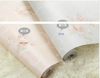 Quality quality non-woven wallpaper american rustic green blue small flower simple european wallpaper  free shipping