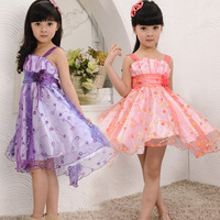 Children's clothing 2014 summer NEW fashion girls one-piece tank dress babys dancing chiffon full dresses