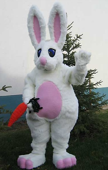 OISK Bunny mascot costumes adult character fancy dress costumes corporate school team mascots(China (Mainland))