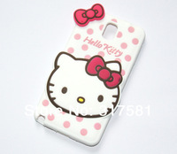 Silicone Phone shell ,Note3  White Hello Kitty  Mobile protective shell / Phone sets