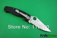 SPYDERCO S30V millitary C81 C81GP2 folding knife CPM-S30V 58HR Black G10 handle pocket Tactical knives paramilitary 2 5pcs/lot
