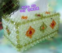 Hand made home decoration wedding gift elegant tissue box