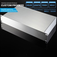 battery aluminum  enclosure flat side panel  battery box enclosure black aluminum electronics enclosure project box