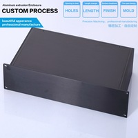19 inch 2 u rack mount chassis box enclosures electronic design box for electrical distribution electronic projects
