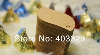 Free shipping 350g  Kraft Paper Blank Hand made tag ZAKKA ancient ways paper had tag gift tag