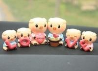 Cartoon love shote big pig lovers dolls car decoration accessories