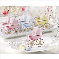 Wedding boxes of Classic Pram favor box 30PCS/LOT Best for candy boxes,baby shower wedding favor Cute wedding candy box