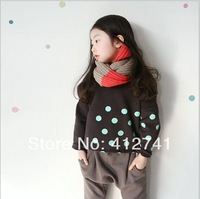 Korean Fashion High Quality Children Fleece 2014 New Spring Sweater Girl's Jumper Kid's Coat Sweatshirts  Free Shipping