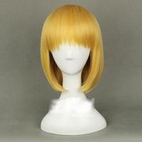 Ziyanshop Armin Arlert - Attack on Titan Shingeki no Kyojin, Golden color 30cm/11.81in short hair full wig with Free cap