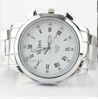 Steel belt neutral business watch Korean popular fashion watches leisure watches men's watch
