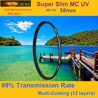 NiSi 58mm Ultra Violet Super Slim Multi-coated Multi-Coating (12 Layers) MC UV Filter For Digital SLR Camera 58 mm LENS