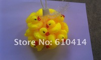 Free shipping Yellow 4cm Baby Bath Toy Rubber Ducks toys sounds duck with 100Pcs/lot