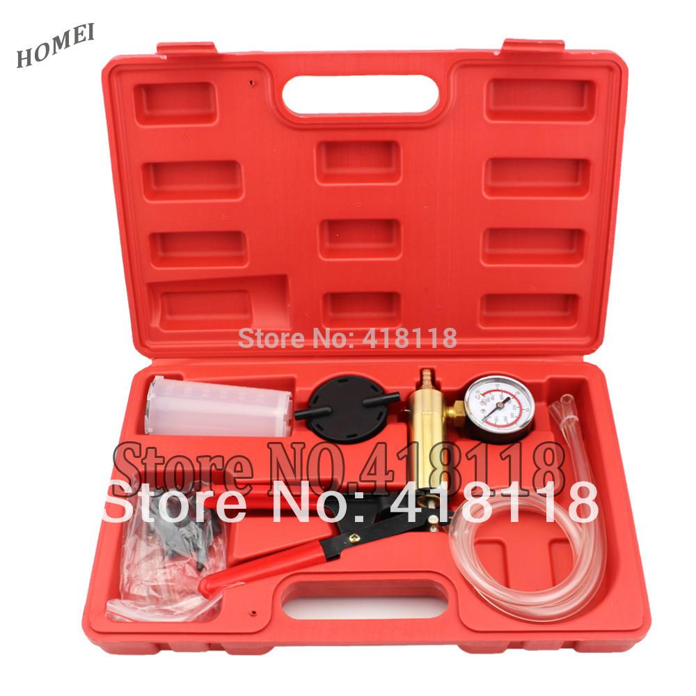 Professional Car Tool Set Brake Bleeder & Vacuum Pump Kit Tester 2 in 1 Auto Hand-Held(China (Mainland))