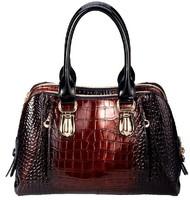 women leather handbags new 2014 shoulder bags high-grade gradient crocodile grain leather bag