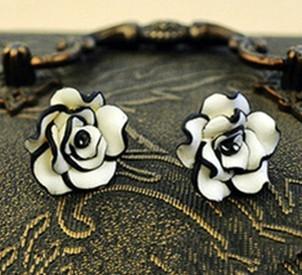 Min.order is $8 (mix order)  Vintage Черный Белый Multi-layer Розовый Stud Earrings ...