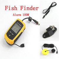 Free Shipping Portable Sonar LCD Fish Finder FishFinder Alarm 100M