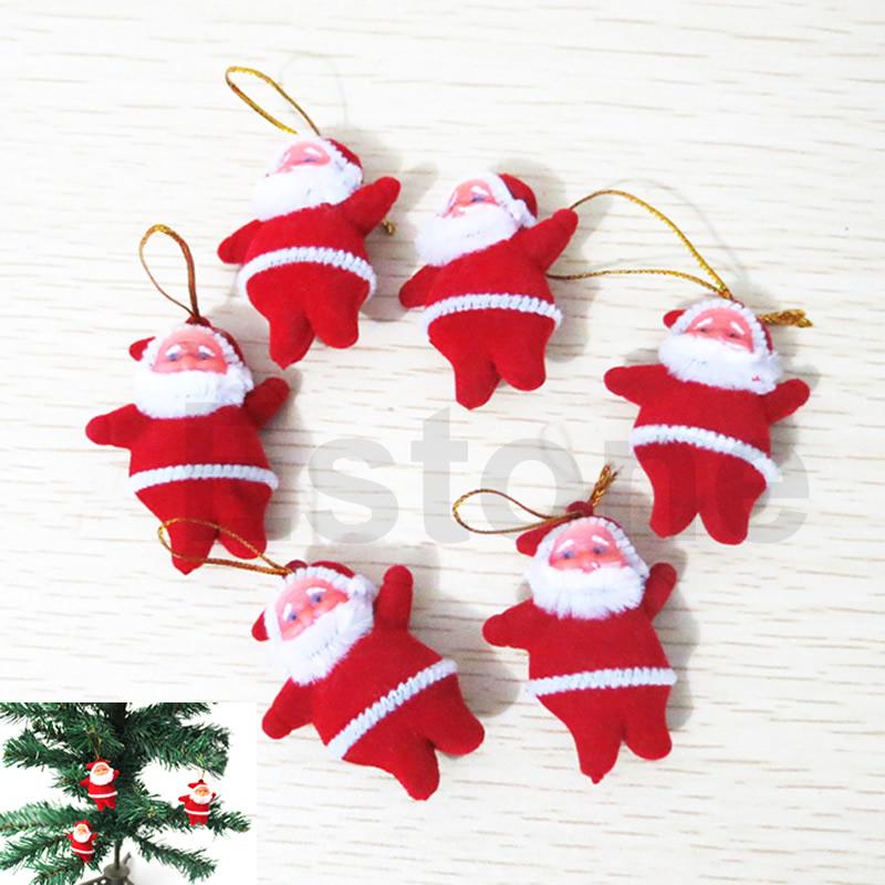 F85 Free Shipping 20pcs/lot Cute Xmas Decor Santa Claus Ornament Hanging Christmas Decoration Toys(China (Mainland))