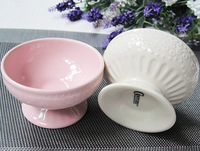 Tableware ceramic salad bowl ice cream sundae cup fruit juice cup ceramic cup