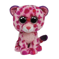 Free shipping cute TY Big Eyes Stuffed Animals Colorful Leopard plush toy toys for children