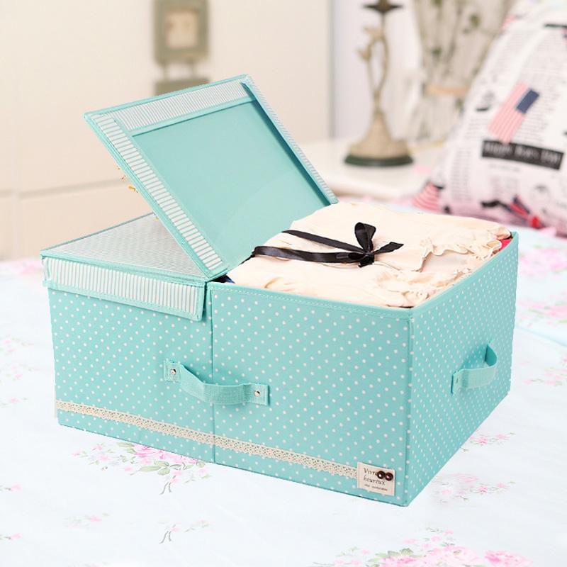 Classic double compartment clothing baina storage box folding box bedding package storage box(China (Mainland))