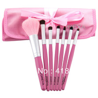 FREE SHIPPING Zoreya Pink Makeup Brush Set 7 Pcs Natural Goat Hair Professional Makeup Brush Comestic Brushes