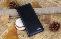 2014 mens wallets pu leather fashion long money purse for men black color male wallet