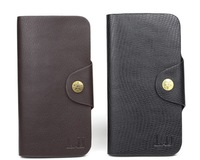 Man clutch wallets long style hasp fashion casual purse for men black brown color 2014