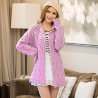Girl country. The new 2014 women coat. Spring fashion coat. Cardigan sweater cardigan knitting female pearl clasp lace jacket