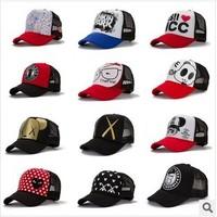 Mesh cap Wholesale Korean men and women spring and summer fashion sun hat visor cap truck cap Cartoon Network 12 models
