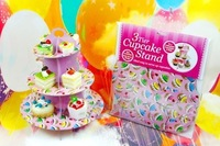 2014 children latest pink paper cake baby birthday party supplies