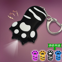 Bs-007 vocalization cat's claw light emitting led keychain mini flashlight