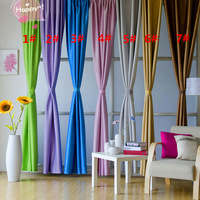 Free Shipping!!! New Arrival Full Finished Made Solid Color Eyelet Style Blackout Curtain 140cm(W)*250cm(H) Size / Piece