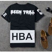 New in 2014 hba shirt dgk pyrex Hood by air yeezy hba been trill pyrex men's clothing short-sleeve T-shirt  man clothes
