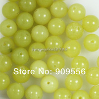 8mm 100pcs/lot Genuine Natural Lemon Jade Stone  Round Loose Spacer Beads