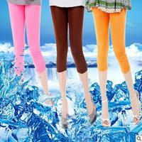 Yiwu factory direct large size candy -colored ice Sixia season new fashion lady style pant leggings Wholesale