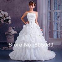 Free shipping best selling custom-made white&ivory&any color Sweetheart  Sleeveless Wedding Dresses SH0092
