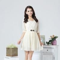 Hot-selling 2013 chiffon shirt elegant chiffon one-piece dress 2818