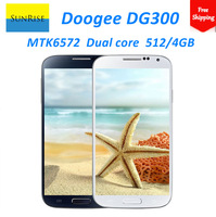 "Freeshipping DOOGEE Voyager DG300 MTK6572,1.3GHz smartphone Android 4.2 OS 5.0"" 512MB/4GB 5.0MP 3G with gifts"