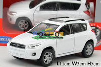 1:36 Toyota RAV4 SUV Two Open Door Pull back Alloy Toys Fashion Kids Toys Car  Vintage Alloy Car Model Wholesale Free Shipping