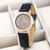 Hot Market! Promotional New Popular Casual Fashion Woman Leather Quartz Watch