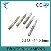 10PCS/set Complete Kit Carbide PCB CNC Engraving V Bits 45 Deg 0.1mm
